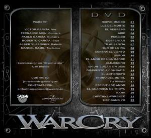 WarCry - Directo a la Luz -Interior Digipack