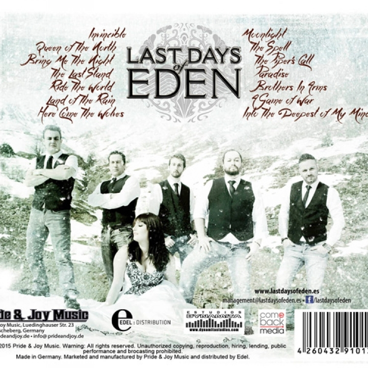 Las-Days of Eden - Ride the World - Inlay