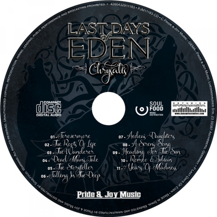 Last Days of Eden - Chrysalis - galleta